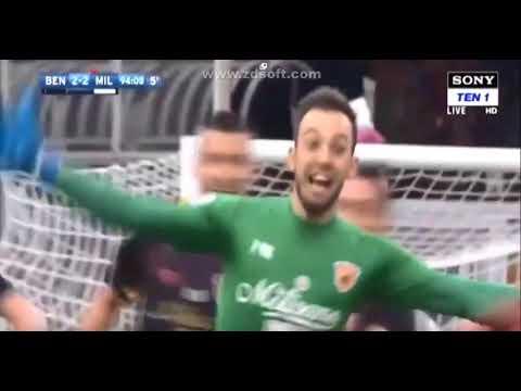 Alberto Brignoli Goalkeeper last minute goal 95' | Benevento - Milan 2:2 HD